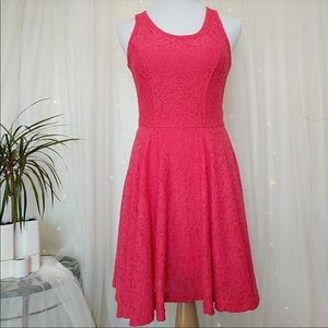 Express Pink Lace Dress, XS